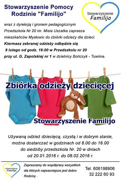 Kiermasz używanej odzieży dziecięcej