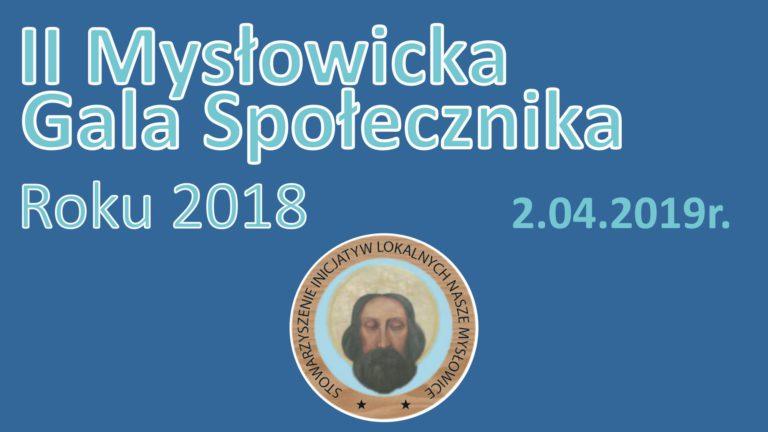 II Mysłowicka Gala Społecznika Roku 2018 – podsumowanie