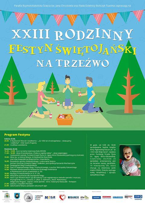 Współorganizator XXIII Rodzinnego Festynu Świętojańskiego na Trzeźwo i IV biegu