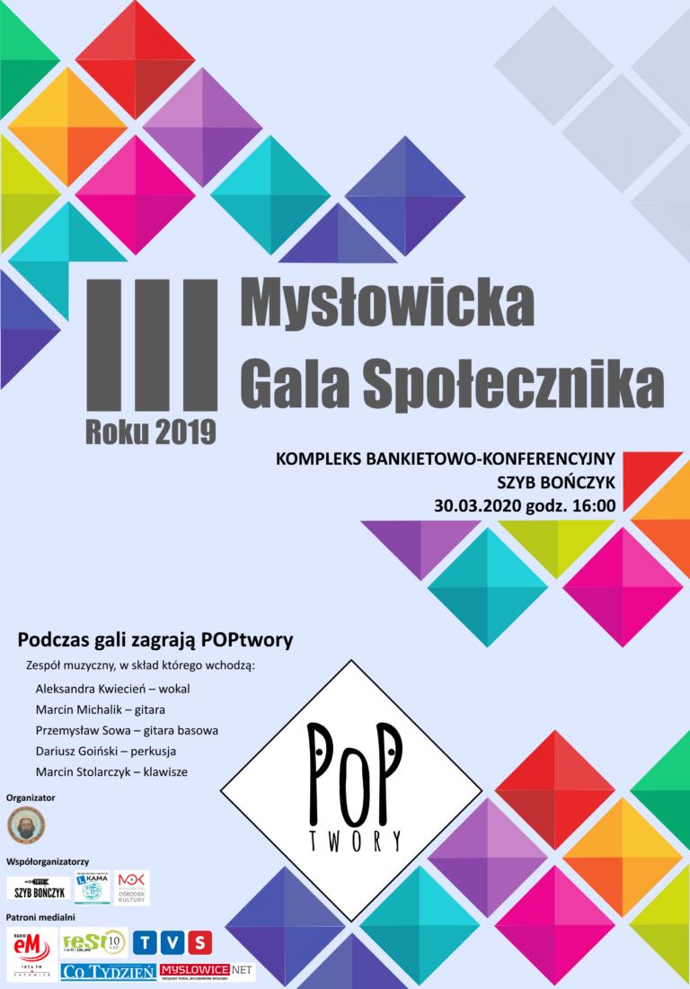 III Mysłowicka Gala Społecznika Roku 2019